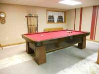 Pool Table for Sale: Brunwich 5 x 9 Antique Slate Top