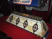 Here is a stained glass pool table light in great