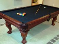 Terrific Pool table - slate top, etc. by Thomas Aaron.