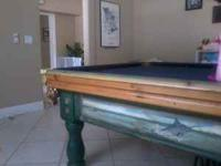Real Wood 9ft, regulation size pool table. In great