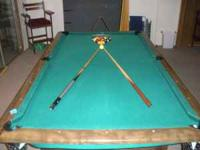 This post is for a 3 piece slate pool table. The table
