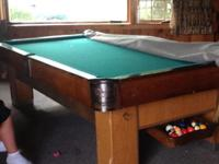 This 9ft CONN pool table from billiard & bowling supply