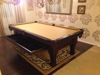 Customized Ramsey 8ft. Pool Table All new delivery and