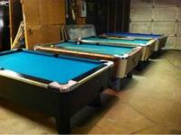 POOL TABLES, USED VALLEY & DYNAMO COIN OPERATED 3 1/2 x