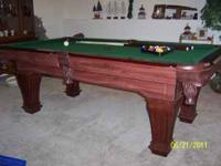 This is a Beautiful new pool table that has never been