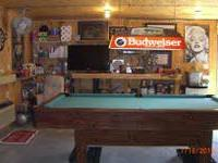 I am selling an 8' NON-slate pool table.  It does have