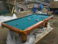 GREAT LOOKING POOL TABLE. IT WAS VERY EXPENSIVE WHEN I