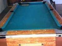 Slate -valley company coin pool table 6.5 ft long Comes