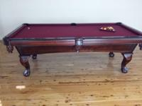 This pool table is in excellent shape. A beautiful