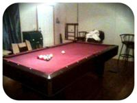 I have a 9 ft. Pool table for 600 obo. It comes with a
