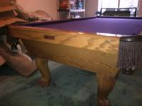 Connelly Durango 8', 3 piece slate pool table.