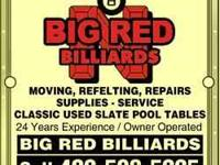 I have in stock new and used billiard supplies for your
