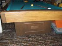 Nice vintage pool table in good condition. This is a