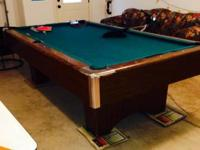 Great pool table for sale. We are moving out of our
