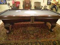 "We have an 8"" Pool Table for Sale. Special made with an"