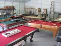 We sell quality pool tables at reasonable rates. Each