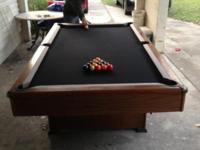 This 8 foot, slate top, swimming pool table was