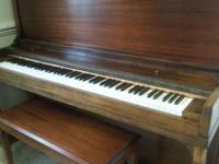 "50"" Poole Upright Piano with duet bench for $995. Piano"