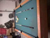 I have a 3ft x 6ft pooltable that I'm trying to sell.