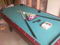 Pool Table in Great Shape also a poker table (with all