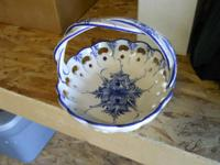 Beautiful Blue and white Porcelain basket made in