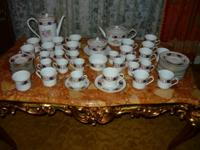 An Antique REPRODUCTION 83 pc place setting, 107 pieces