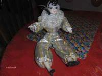 NICE DECORATIVE DOLL WITH PORCELAIN HEAD, HANDS AND