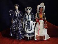THESE DOLLS ARE DRESSED IN CULTURAL ATTIRE, THEY ARE