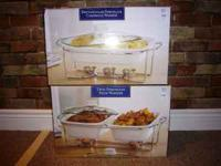 2 porcelain food warmers in original boxes from Bed,