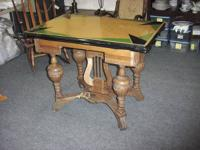 OLD porcelain leading table. From the leg shape and