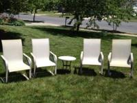 Great condition used on patio, no tears, spring seats.
