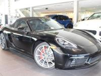 This 718 Boxster S includes,(A1) Black,(4V) Roadster