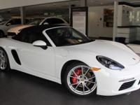 This Exectuive Demo 718 Boxster S comes equipped with