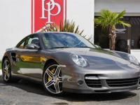 2008 Porsche 911 Turbo Coupe in Meteor Grey with Cocoa