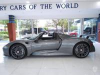This 2015 Porsche 918 Spyder 2dr with Weissach package
