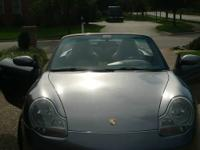 Porsche 911, built in 2001.  The gray exterior and