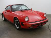 1986 Porsche Carrera Sunroof Coupe1986 Porsche Carrera