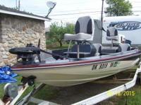 1988 Port star bass boat 17ft 19in with a Suzuki 150 hp