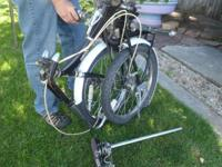 Folding bicycle allows you to take this bicycle almost