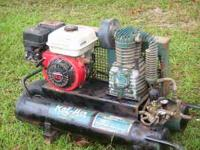 5.5HP ROL-AIR PORTABLE AIR COMPRESSOR HONDA MOTOR 2 AIR