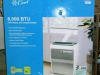 Commercial Cool Portable Air Conditioner, 8000 BTUs,