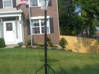 Portable Basketball Hoop for sale. Slight surface rust