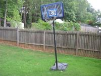 PORTABLE BASKETBALL HOOP IN GOOD CONDITION. $55 or BEST
