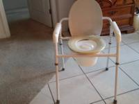 Portable Bed Side Commode in Good Condition. Use it by