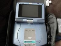 portable dvd player for car. has 2 headphone spots,