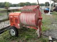 Portable Cement mixer in excellent condition, barely