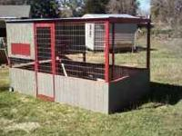 Moveable chicken coop, 6'X10' with 6 layer boxes. Will