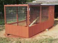 Moveable coop for chickens. Move to a new spot each