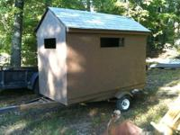 nice deer hunting stand / blind 4x8' 5'+ interior