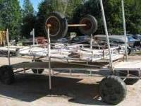 For sale: Used portable dock. 3 axel/6 wheel with